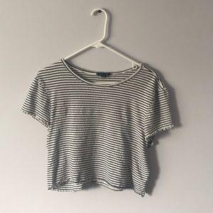 Black and white striped t-shirt size XL
